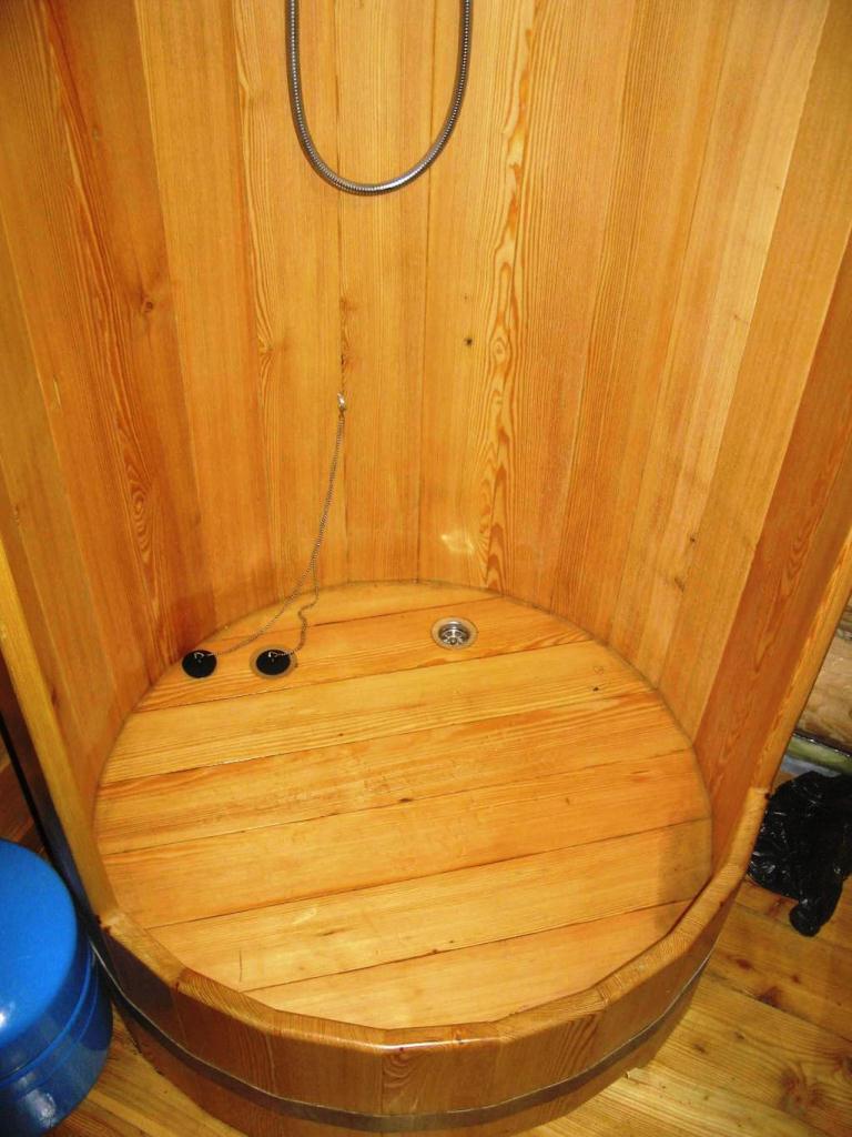 Как сделать душевую кабину в бане